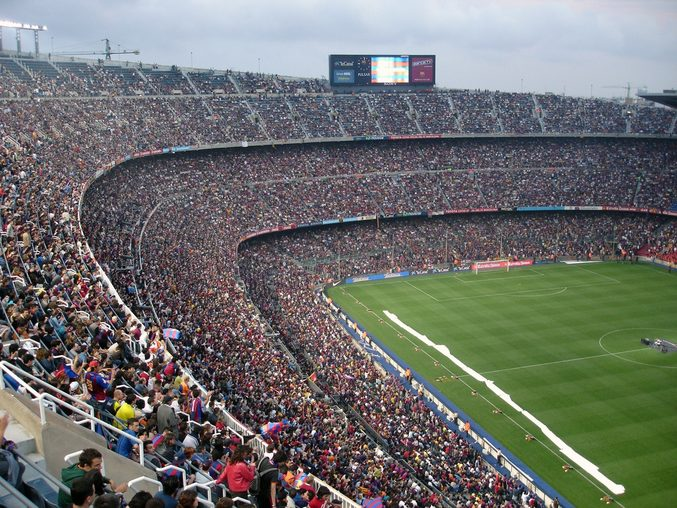 Camp Nou stadium, Barcelona. Home of FC Barcelona.
