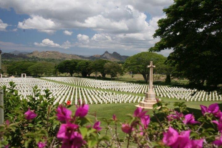 Bomana War Cemetery, Kokoda. Image courtesy of Mat McLachlan Battlefield Tours