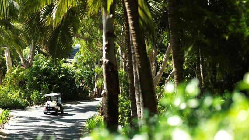 Resort golf carts on Hamilton Island. Credit: Jason Loucas/Hamilton island.