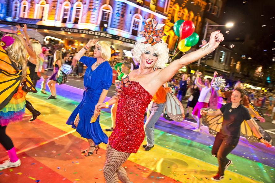 Mardi Gras, Sydney, NSW. Credit: Sydney Gay and Lesbian Mardi Gras