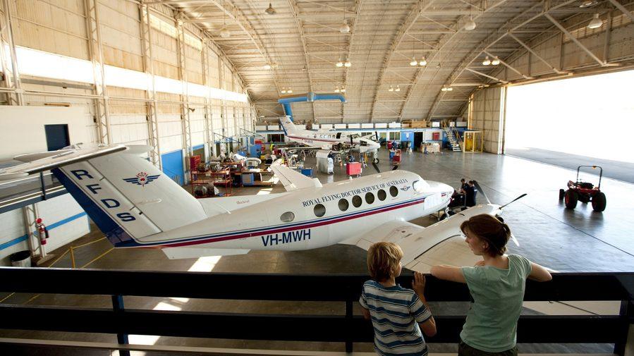 Image: Royal Flying Doctor Service Hangar, Broken hill. Credit: Broken Hill City Council.