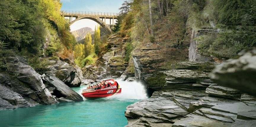 Image: Shotover Jet, Queenstown. Credit: Tourism New Zealand