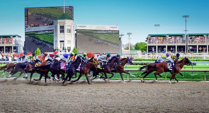 The Kentucky Derby, Churchill Downs, Louisville. Credit: Bill Brines.