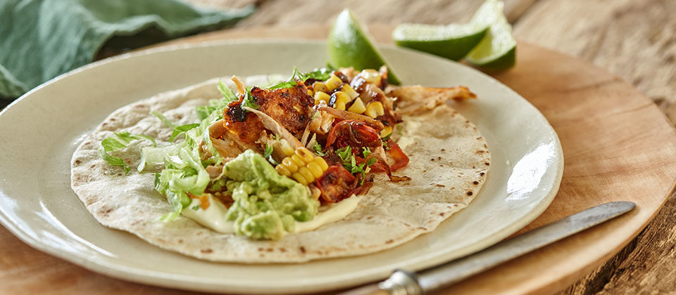 Smokey Paprika and Macadamia Chilli Chicken Taco