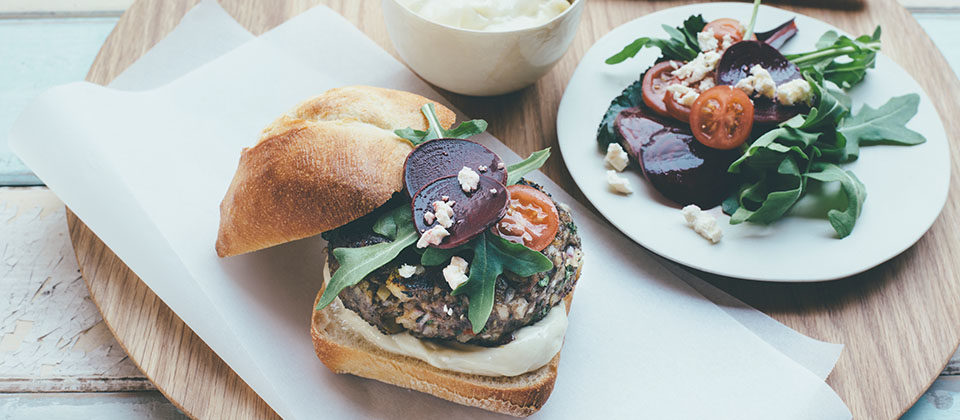 Lamb and Macadamia Burgers
