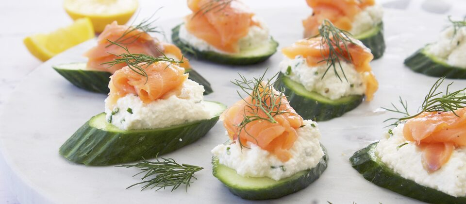 Macadamia Cream Cheese & Smoked Salmon Canapes
