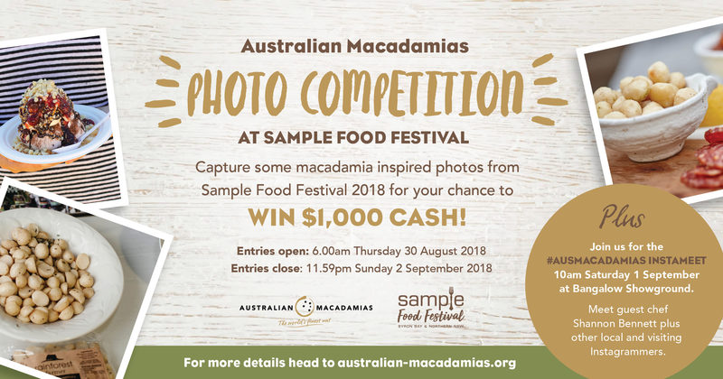 Australian Macadamias Photo Competition at Sample Food Festival 2018