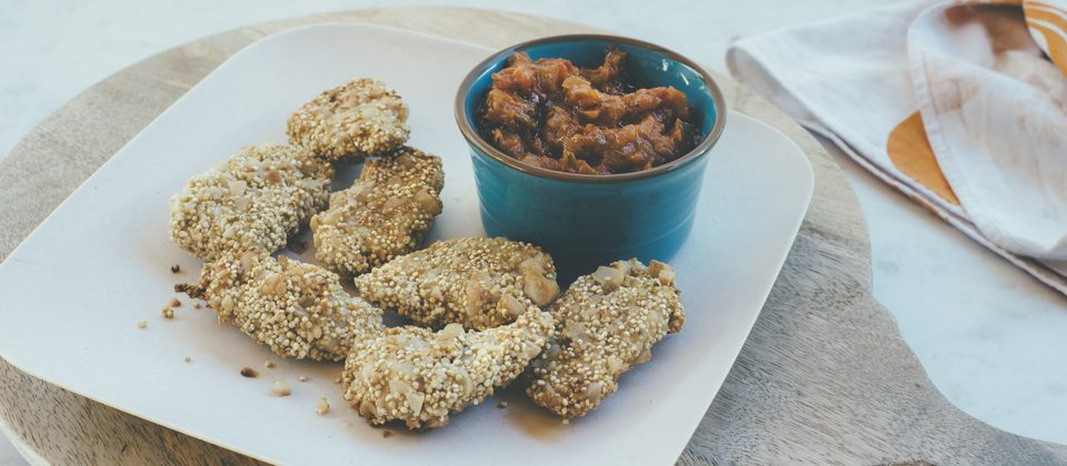 Kids in the kitchen with quinoa and macadamias