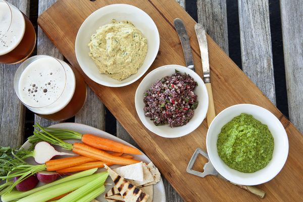 Start with a trio of macadamia dips