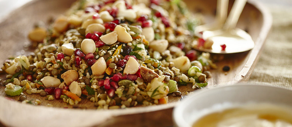 What's trending - Meatless mondays with Macadamia freekah salad