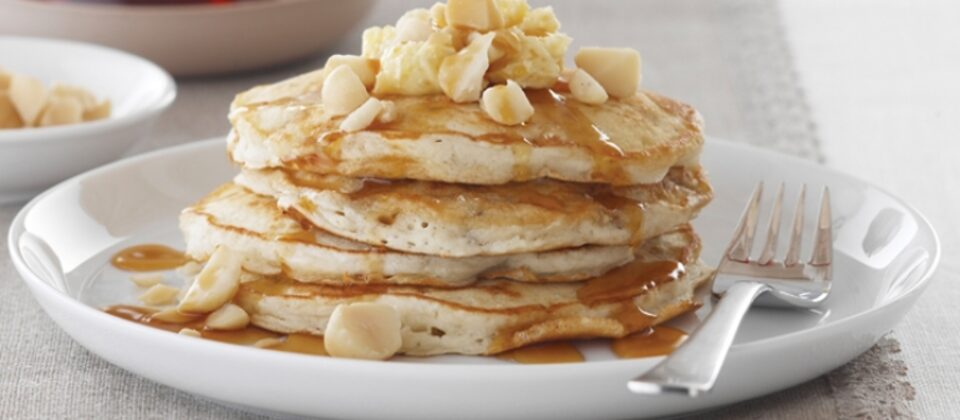 Macadamia and Banana Pancakes