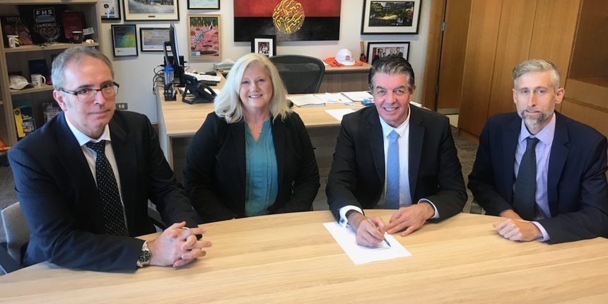 Signing of Mountview Agreement
