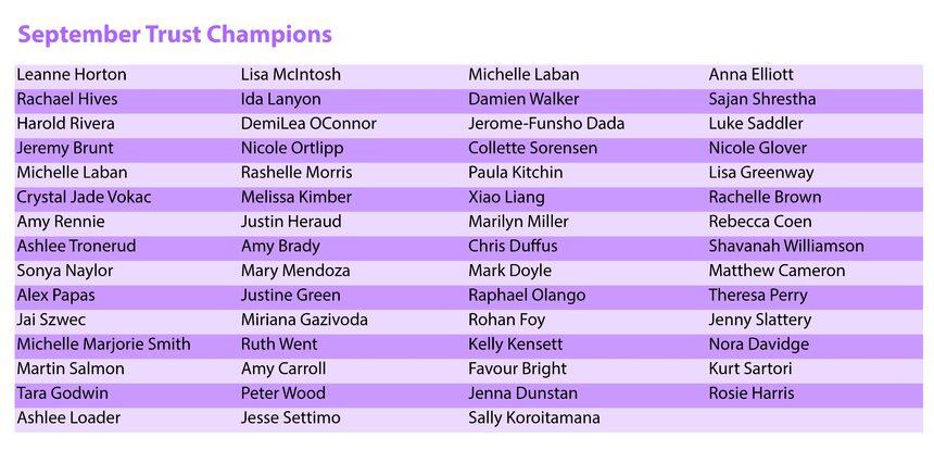 September Champions
