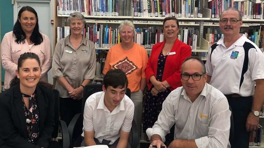 Ben Cook at the Bega Shire Council Library