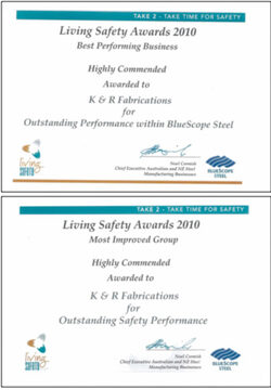 Bluescope Steel Safety Awards