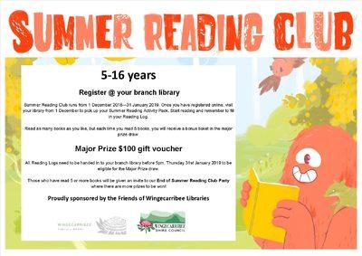 Summer reading club register in branch