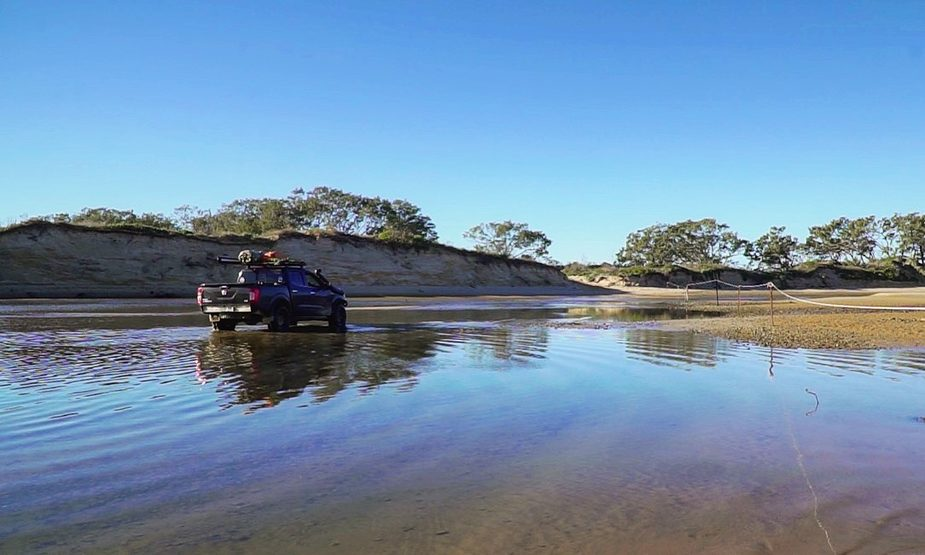 4WD tidal crossing in the Yuraygir National Park
