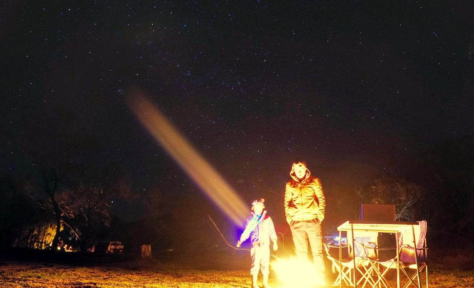 Night camping in the Yuraygir National Park