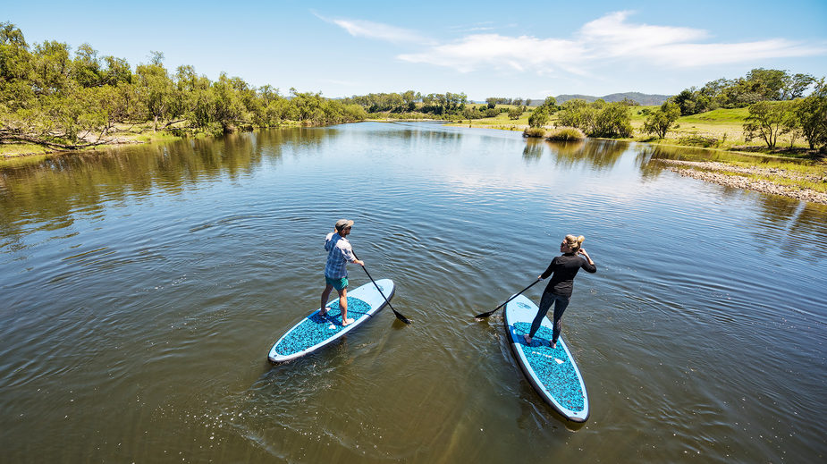 Paddle boarding in Lilydale