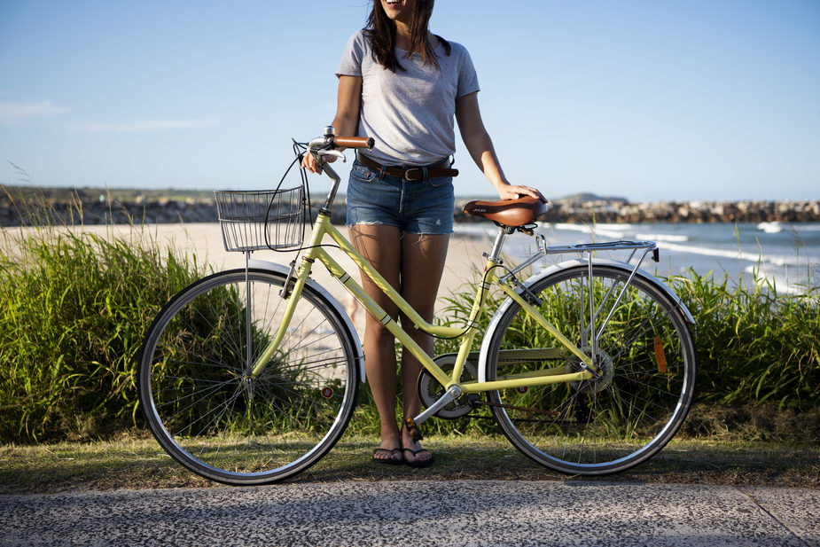 Riding a bike is a great way to get around Yamba