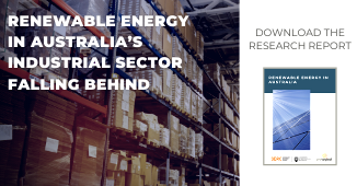 Renewable Energy in Australia's Industrial Sector Falling Behind