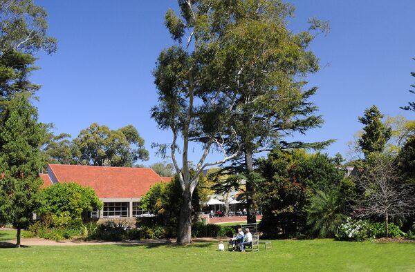 Hazelhurst Arts Centre with surrounding garden