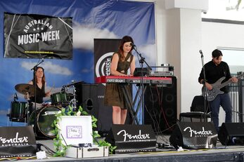 Fieu performing at last years AMW
