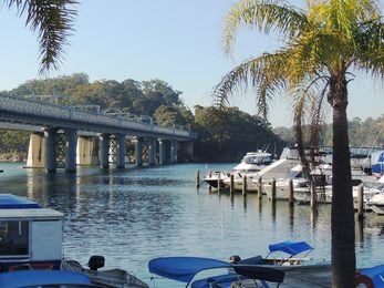 Boats Bridge River Water Nature
