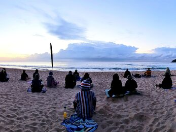 Making Meditation Mainstream Free Beach Meditation Session Wanda Beach Cronulla