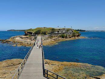 Boardwalk to Bare Island Fort La Perouse Kamay Botany Bay National Park Photo E Sheargold OEH